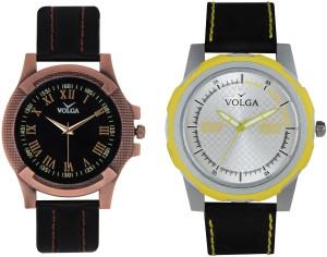 Volga Branded Leather Quality Designer Dial Diwali Special Combo476 Designer Sport Looks WaterProof Mens Watch Analog Watch  - For Men