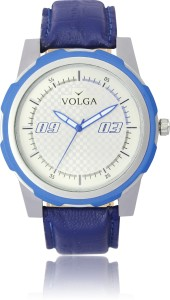 Volga VLW050041 Sports Leather belt With Designer Stylish Fancy Analog Watch  - For Men
