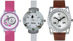 Volga Designer FVOLGA Beautiful New Branded Type Watches Men and Women Combo164 VOLGA Band Analog Watch  - For Couple