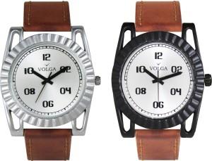 Volga Branded Leather Quality Designer Dial Diwali Special Combo639 Designer Sport Looks WaterProof Mens Watch Analog Watch  - For Men