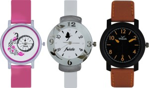 Frida Designer VOLGA Beautiful New Branded Type Watches Men and Women Combo642 VOLGA Band Analog Watch  - For Couple