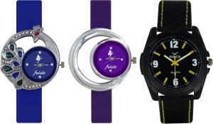 Frida Designer VOLGA Beautiful New Branded Type Watches Men and Women Combo455 VOLGA Band Analog Watch  - For Couple