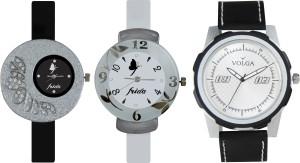 Volga Designer FVOLGA Beautiful New Branded Type Watches Men and Women Combo112 VOLGA Band Analog Watch  - For Couple