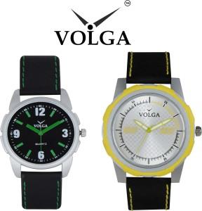Volga Branded Leather Quality Designer Dial Diwali Special Combo530 Designer Sport Looks WaterProof Mens Watch Analog Watch  - For Men