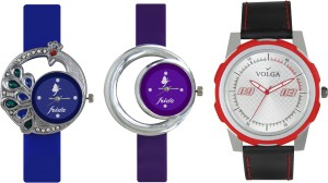 Volga Designer FVOLGA Beautiful New Branded Type Watches Men and Women Combo130 VOLGA Band Analog Watch  - For Couple