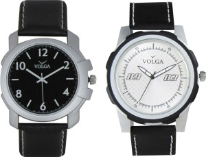 Volga Branded Leather Quality Designer Dial Diwali Special Combo635 Designer Sport Looks WaterProof Mens Watch Analog Watch  - For Men
