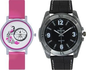Frida Designer VOLGA Beautiful New Branded Type Watches Men and Women Combo102 VOLGA Band Analog Watch  - For Couple