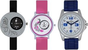 Frida Designer VOLGA Beautiful New Branded Type Watches Men and Women Combo261 VOLGA Band Analog Watch  - For Couple