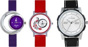 Volga Designer FVOLGA Beautiful New Branded Type Watches Men and Women Combo176 VOLGA Band Analog Watch  - For Couple