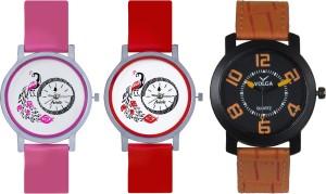 Frida Designer VOLGA Beautiful New Branded Type Watches Men and Women Combo606 VOLGA Band Analog Watch  - For Couple