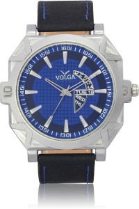 Volga VLW050044 Sports Leather belt With Designer Stylish Branded Fancy box Analog Watch  - For Men