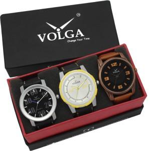 Volga VLW05-22-39-43 Mens Leather Belt Combo With Designer Stylish Branded Trendy box Analog Watch  - For Men