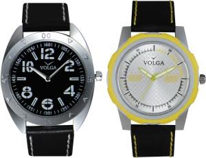 Volga Branded Leather Quality Designer Dial Diwali Special Combo600 Designer Sport Looks WaterProof Mens Watch Analog Watch  - For Men
