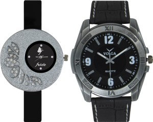 Frida Designer VOLGA Beautiful New Branded Type Watches Men and Women Combo28 VOLGA Band Analog Watch  - For Couple