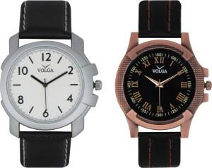 Volga Branded Leather Quality Designer Dial Diwali Special Combo181 Designer Sport Looks WaterProof Mens Watch Analog Watch  - For Men