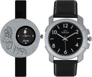 Frida Designer VOLGA Beautiful New Branded Type Watches Men and Women Combo29 VOLGA Band Analog Watch  - For Couple