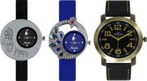 Frida Designer VOLGA Beautiful New Branded Type Watches Men and Women Combo249 VOLGA Band Analog Watch  - For Couple