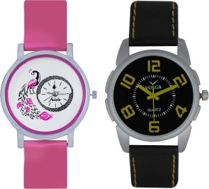 Frida Designer VOLGA Beautiful New Branded Type Watches Men and Women Combo93 VOLGA Band Analog Watch  - For Couple