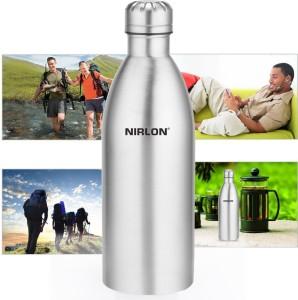 251353137bd NIRLON Stainless Steel Vaccumn 1000 ml Water Bottle Set of 1 Silver ...