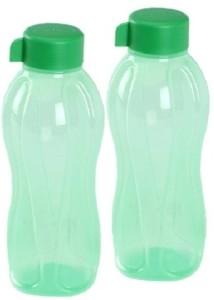 Tupperware Tupperware Bottle Green 1 Liter - Pack Of 2 1000 ml Bottle