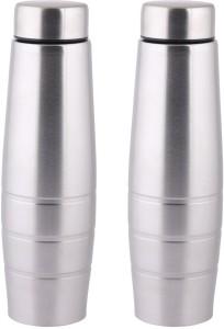 Zafos Zafos Chromo S.S Steel 1000ml (Set of-2) - Fridge Water Bottle. Leak Proof for Gym, Sports & Office & School 1000 ml Bottle