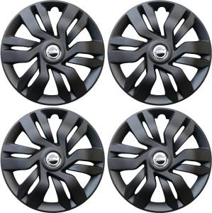 Hotwheelz Sporty Matte Black Wheel Cover For Hyundai Getz (33.02 cm)