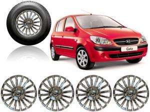 Auto Pearl Premium Quality Car Full Chrome Caps Silver 13 inches Wheel Cover For Hyundai Getz