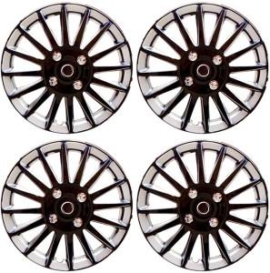 Auto Pearl Premium Quality Car Full Caps Black and Silver 13 Inches For - Hyundai Getz Wheel Cover For Hyundai Getz37 cm