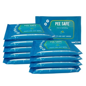 Pee Safe Multi Use Pee Safe Wet Wipes pack of 10