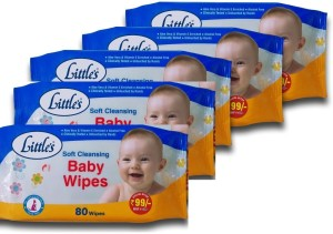 Chhote Janab Little's Soft Cleansing Baby Wipes (80 Count) Pack Of 5