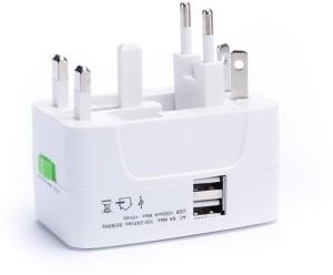 ROQ Multiplug With USB Worldwide Adaptor