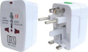 MX Pack of 2 Universal Pocket Travel Power Charger Multi-Plug, AU/EU/UK/US/CN Worldwide Adaptor