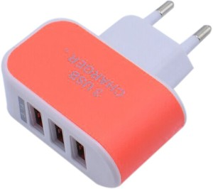 Gugzy Universal 3.1A EU Plug 3 Port USB Worldwide Adaptor