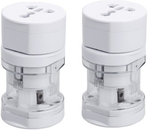 Care Case Pack Of 2-Universal Long Travel Adapter (AU EU UK US) International Good Quality Worldwide Adaptor