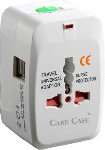 Care Case 2 Usb Travel Universal Adapter (AU EU UK US) Good Quality International Worldwide Adaptor