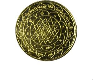 Spiritual Max Shri Laxmi Ganesh Siddh Coin Brass YantraPack of 1