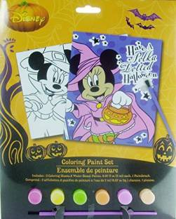 Disney Minnie Mouse Bows And Boos Halloween Fun Coloring Paint Set