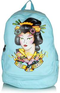 Ed Hardy Kiss of Death 15 L Backpack Black - Price in India ... ee1996ec7b13a