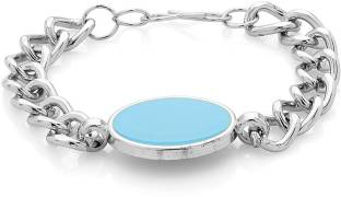 Voylla Alloy Zircon Silver Bracelet