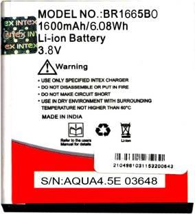 Intex Mobile Battery For  Intex BR1665BO