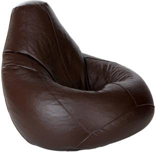 Kainaat Fashion XXL Tear Drop Bean Bag Cover  Without Beans  Brown