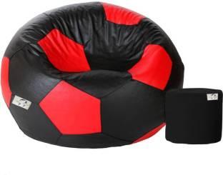 AdevWorld XXXL FOOTBALL BEAN BAG Bean Bag With Filling