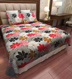 Home Candy Cotton Floral Double Bedsheet