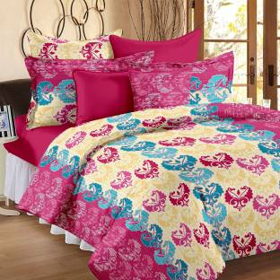 Story@Home Cotton Abstract Double Bedsheet