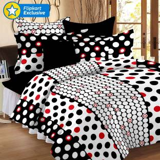 Story@home Cotton Polka Double Bedsheet