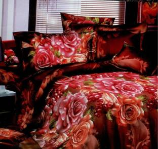 Shree Creations Polycotton Floral King sized Double Bedsheet available at Flipkart for Rs.999