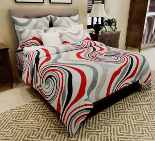 Home Candy Cotton Abstract Double Bedsheet