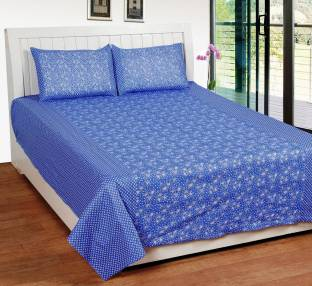 Super India Cotton Floral Double Bedsheet
