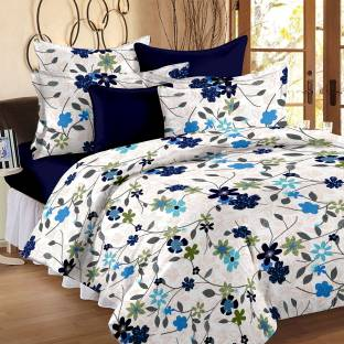 Bedspun Cotton Abstract Double Bedsheet