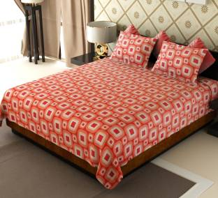 Home Candy Cotton Geometric Double Bedsheet